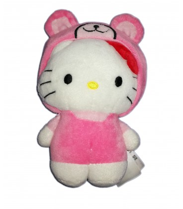 Peluche doudou Hello Kitty deguisee en ours rose H&M Sanrio 19 cm