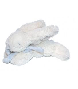 Doudou et Compagnie Paris Lapin blanc bonbon noeud bleu Mon Tout Petit DC1238 PM 18 cm
