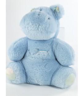 Peluche hippopotame bleu Boulgom 20 cm