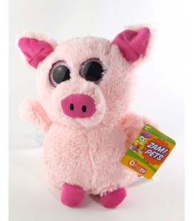 Peluche Cochon rose Fizzy gros yeux 24 cm Zami Pets