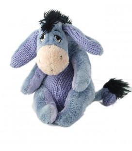 Peluche doudou Bourriquet laine tricot 18 cm mauve 587/6940