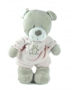Peluche doudou ours gris rose Vêtir 24 cm