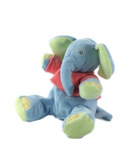Peluche doudou Elephant bleu Kiabi N2728 Pull rose N2728