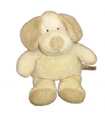 Doudou peluche chien beige clair blanc écru crème NICOTOY The Baby Collection Kiabi 24 cm