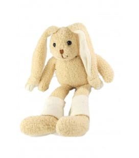 Peluche doudou lapin beige chaussettes blanches Anna Club Plush 32 cm