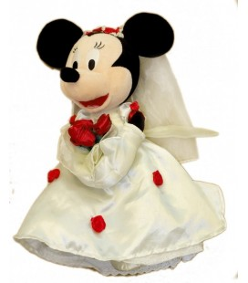 Doudou peluche MINNIE en mariee Disneyland Resort Paris 35 cm