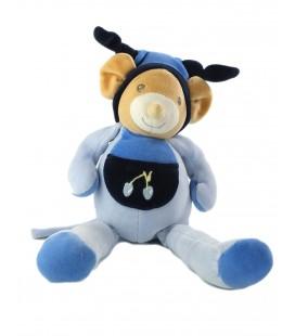Peluche doudou Souris bleue Nounours Cerise 32 cm