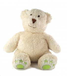 Collector - Peluche ours blanc vert Star Academy 45 cm Gipsy