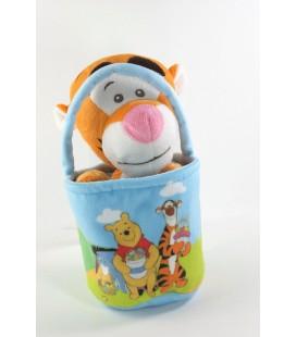 Peluche doudou Tigrou sac panier Disney Nicotoy 587/3109 21 cm