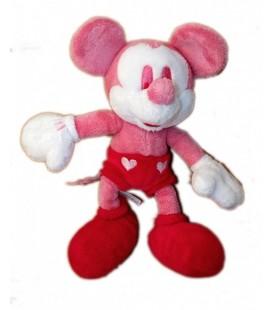 Doudou peluche MICKEY Minnie rose rouge Authentique Disney Store London