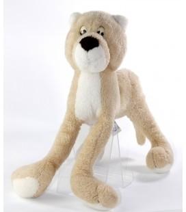 Vintage Peluche Lion chat beige Ajena 30 cm