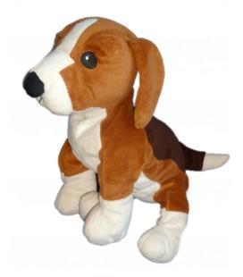 Peluche doudou CHIEN Beagle IKEA Marron blanc GOSIP VALP 35 cm x 26 cm