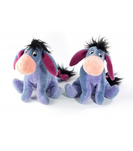 Lot de 2 * Peluche doudou Bourriquet assis 18 cm Disney Disneyland Eeyore Super Soft Boa