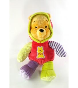 Doudou Peluche Winnie Pyjama rouge vert Disney Nicotoy 32 cm 587/9366