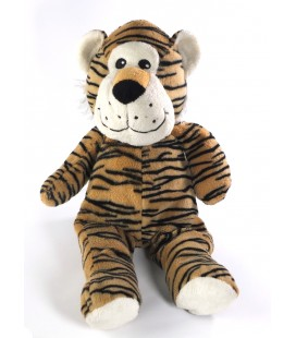 Doudou peluche Tigre marron noir blanc MAX & SAX 38 cm Voir description