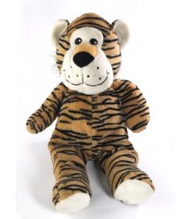 Doudou peluche Tigre marron noir blanc MAX & SAX 38 cm