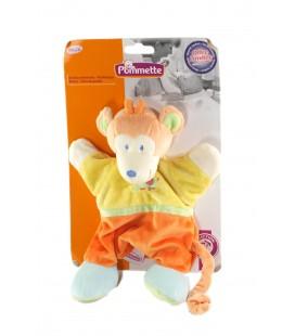 Doudou marionnette singe jaune orage vert Elephant Pommette NEUF SUR CARTON