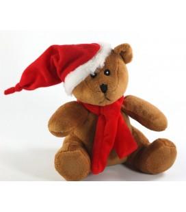 Zami Peluche de Noël doudou Ours marron Fizzy 16 cm Neuf etiquette