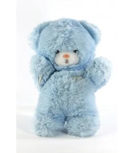 Peluche doudou ours bleu Boulgom 24 cm Grelot