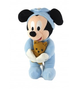 Peluche musicale doudou Mickey ours marron Disney Disneyland Resort 26 cm