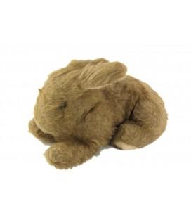 Peluche doudou lapin marron Boulgom 22 cm