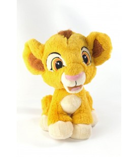 Doudou peluche Simba LE ROI LION Disney Disneyland Paris assis 25 cm