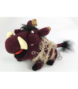 Peluche Phacochere Pumbaa 20 cm + queue Le Roi Lion Walt Disney Store Disneyland Paris