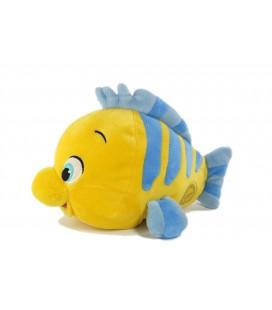 Peluche doudou poisson jaune bleu 26 cm Disney Store la Petite Sirène Polochon