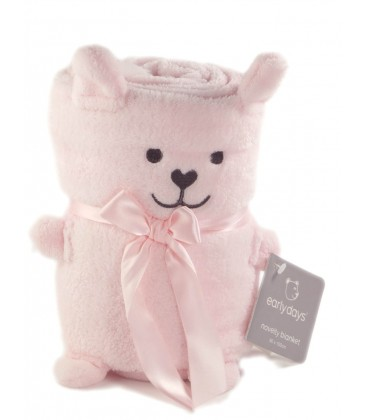 Doudou Couverture ours rose Earlydays Novelty Blanket 80x100 cm