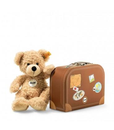 Steiff Cosy - Peluche Ours beige Teddy Fynn Dans Valise Beige 28 Cm