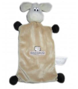 Doudou plat Mouton beige Brioche 30 cm Beryl