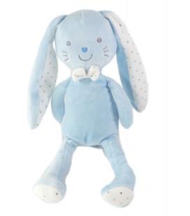 Doudou Lapin bleu blanc etoiles 30 cm TEX