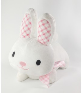 Peluche doudou Lapin blanc Max and Sax Carrefour 30 cm