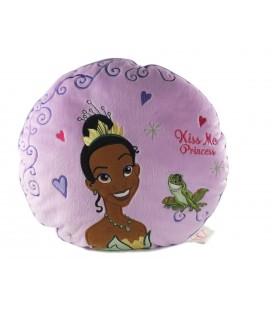 Peluche doudou coussin La Princesse et la Grenouille 35 cm Kiss me Princess