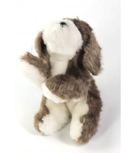 Peluche doudou chien marron blanc Boulgom 22 cm