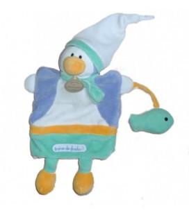 DOUDOU ET COMPaGNIE Marionnette Pingouin Graines de doudou Poisson