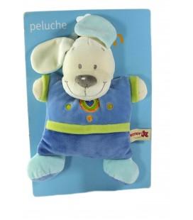Peluche doudou chien bleu coeur Nicotoy Grelot 23 cm 579/5138