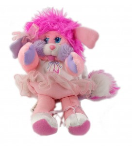 Peluche Popples rose danseuse chaussons 25 cm 1988 Mattel