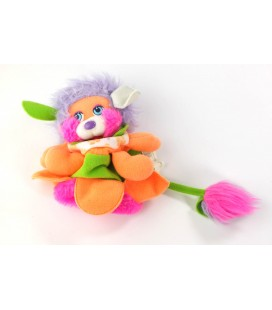 Vintage peluche Popples fruit fleur orange vert MATTEL