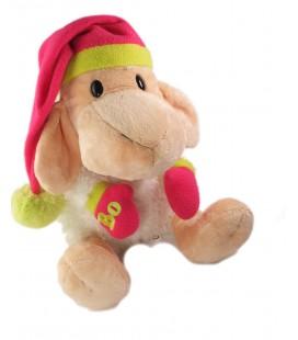Grande peluche mouton Bo Bonnet rose Mylo and Friends 35 cm