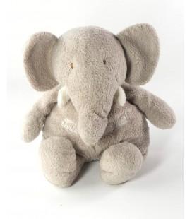 Peluche doudou Elephant gris Tartine et Chocoat 24 cm