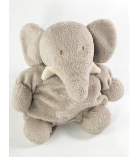 Peluche doudou Elephant gris Tartine et Chocolat Grelot 20 cm