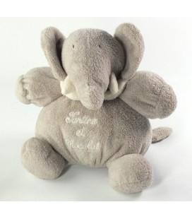 NE FONCTIONNE PLUS - Peluche musicale doudou Elephant gris Tartine et Chocolat 20 cm