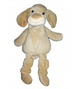 Peluche doudou Chien beige chaussettes foulard Playkids 48 cm