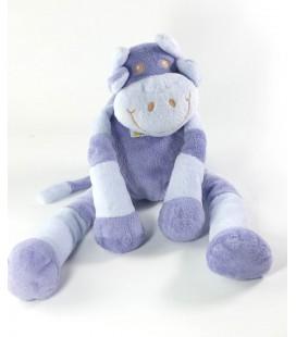 Doudou Vache violette mauve bleue Tartine et Chocolat 36 cm