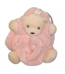 Mini doudou attache tetine Ours KaLOO Coll. Plume Rose H 12 cm