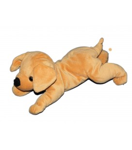 Doudou peluche Chien marron Nicotoy Simba allongé 24 cm 583/0105