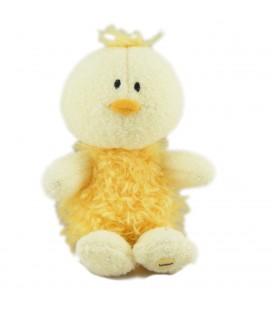 Peluche doudou oiseau canard jaune Luminou 18 cm