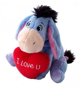 Peluche doudou Bourriquet Coeur I Love U You Disney Nicotoy H 24 cm