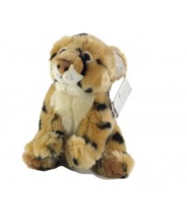 Peluche bebe Leopard fauve Les Zigolos 18 cm GIFI